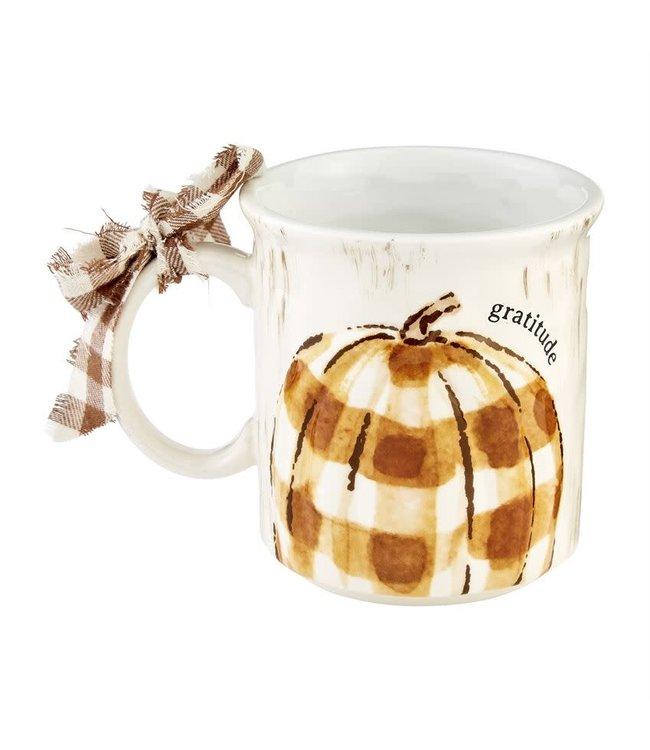 MudPie Gratitude Oversized Pumpkin Mug