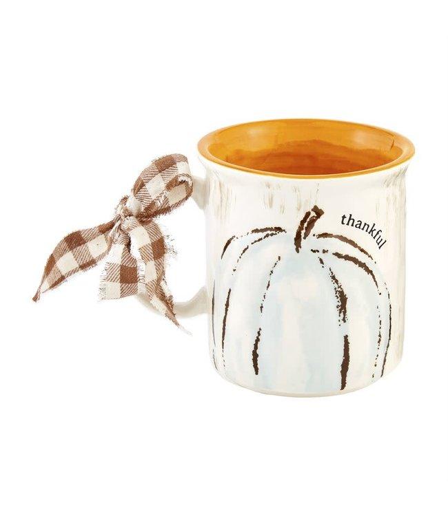 MudPie Oversized Thankful Pumpkin Mug