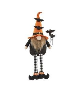 MudPie Orange Bat Dangle Leg Gnome Sitter