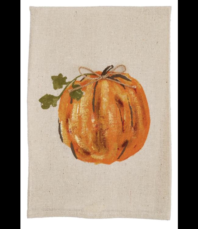 MudPie Pumpkin Hand Painted Towel