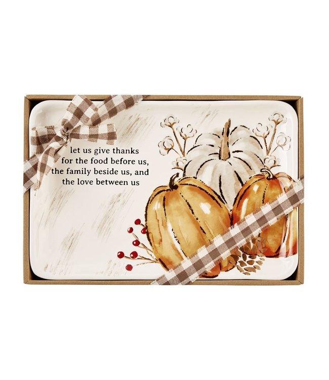 MudPie Let Us Small Pumpkin Platter