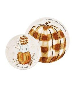 MudPie Pumpkin Nested Platter Set