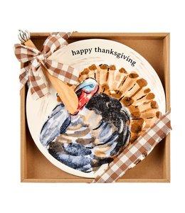 MudPie Turkey Thanksgiving Cheese Set