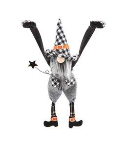 MudPie Boy Dangle Leg Halloween Gnome