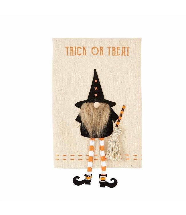MudPie Trick Dangle Gnome Witch Towel