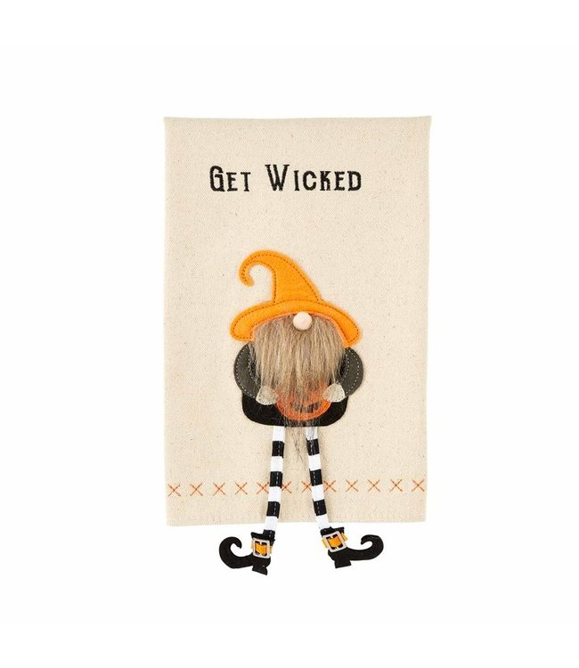 MudPie Get Dangle Gnome Witch Towel