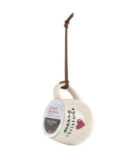Demdaco Holiday Coffee Pod Mug Ornament- Merry Christmas