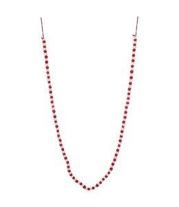 """Creative Co-Op 72""""L Wool Felt Ball Garland, Red & White"""