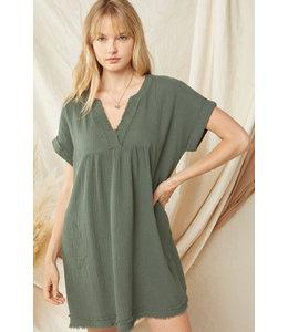 Entro Forest V-Neck Dress