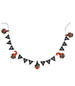 "MudPie Halloween Gnome Garland ""EEK"""