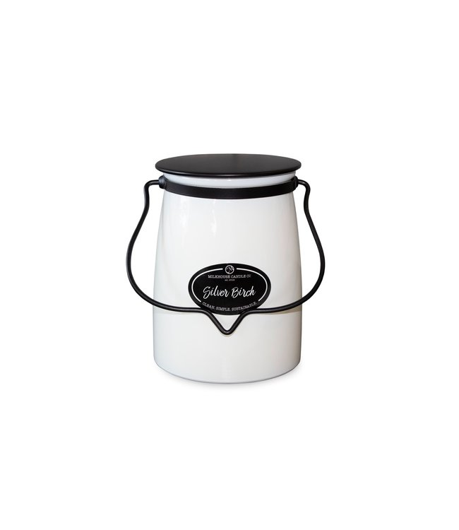 Milkhouse Candle Company Butter Jar 22 Oz: Silver Birch