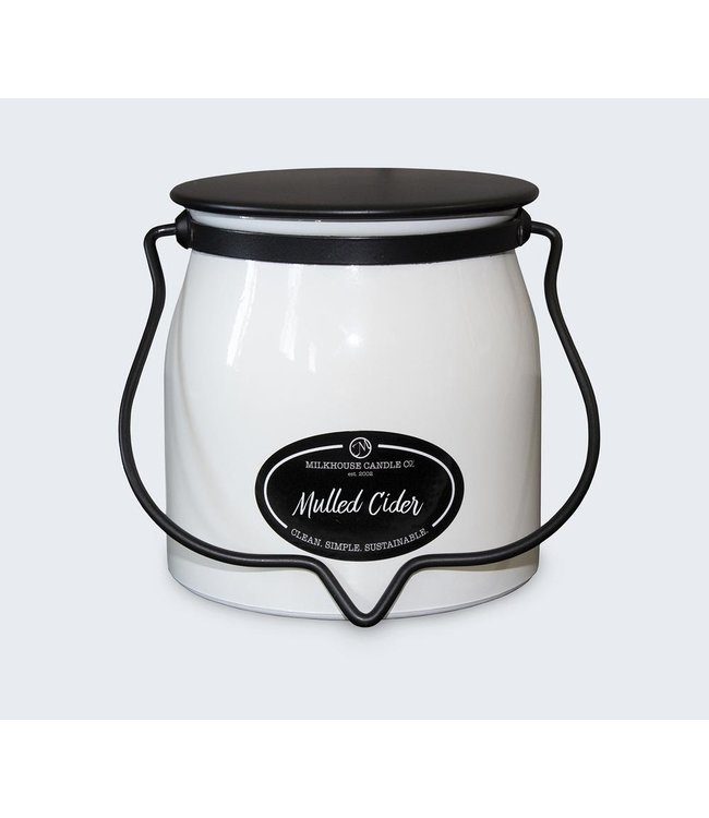 Milkhouse Candle Company Butter Jar 16 Oz: Mulled Cider