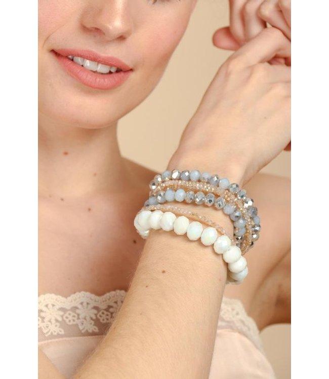 Saachi Sparkling Multi-Bead Audrey Bracelet