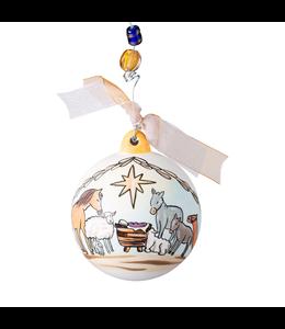 Glory Haus Nativity Flat Ornament