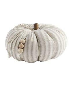 MudPie Ticking Stripe Pumpkin - Small