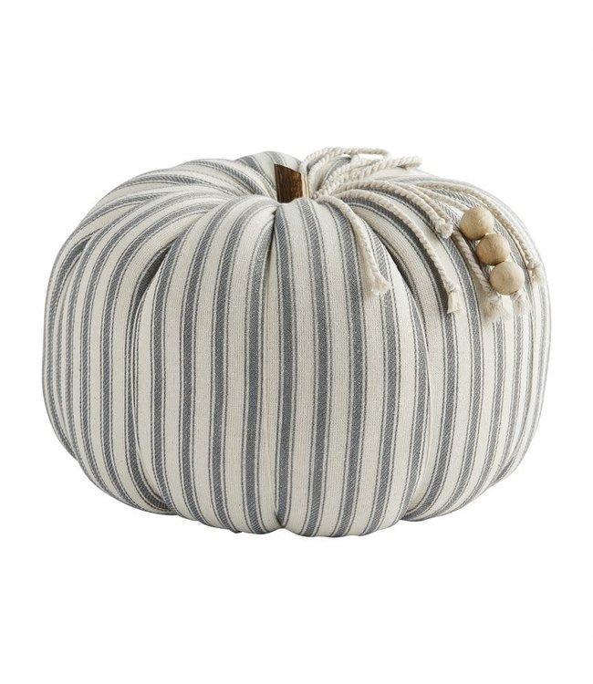 MudPie Ticking Stripe Pumpkin - Large