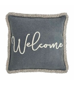 MudPie Welcome Throw Pillow