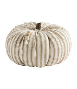 MudPie Ticking Stripe Pumpkin - Medium