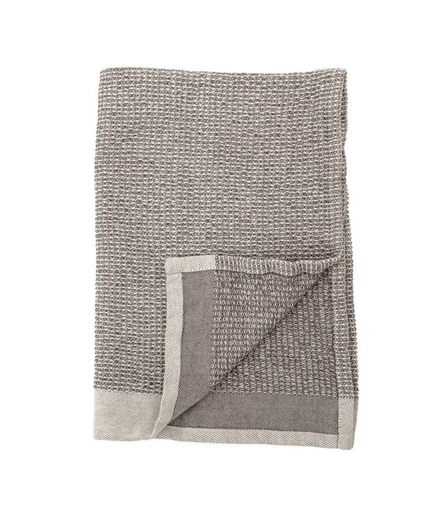 """Bloomingville 28""""L x 18""""W Cotton Waffle Weave Kitchen Towels, Grey, Set of 2"""
