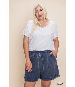 Cotton Bleu Cotton Washed Fraid Short