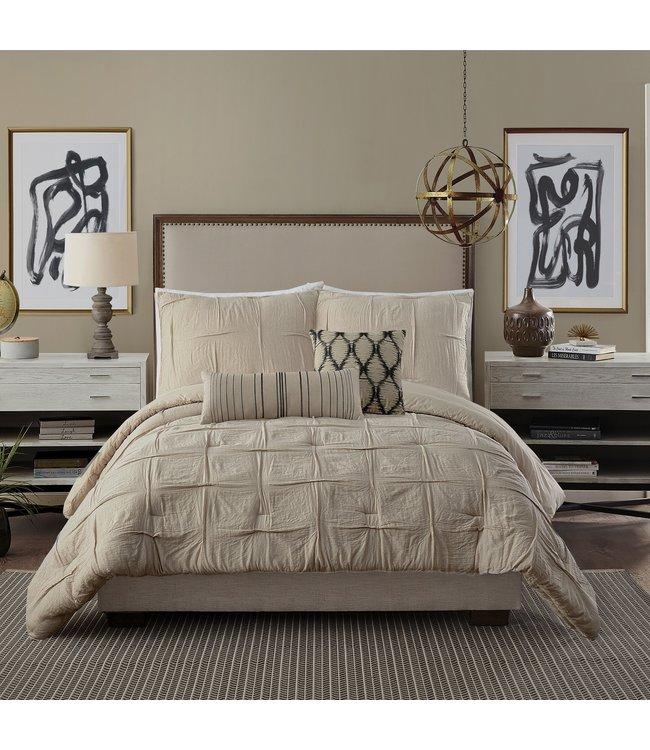 Peking Handicraft Natural Instincts 3-Piece Comforter Set- Full/Queen