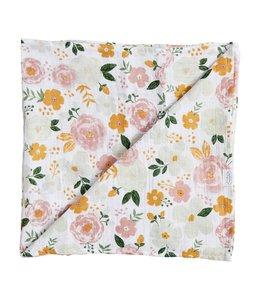 MudPie Sweet Garden Swaddle Blanket