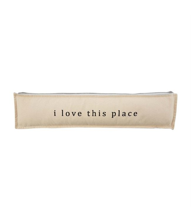 MudPie Love Long Gray Welcome Pillow
