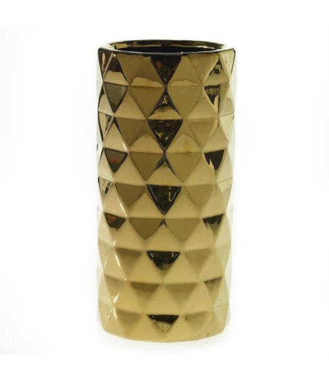 Accent Decor Gold Textured Vase