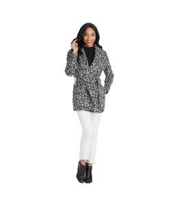 MudPie Black Albany Leopard Coat