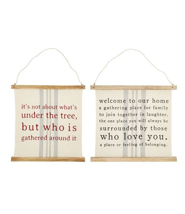 MudPie Reversible Holiday Sign