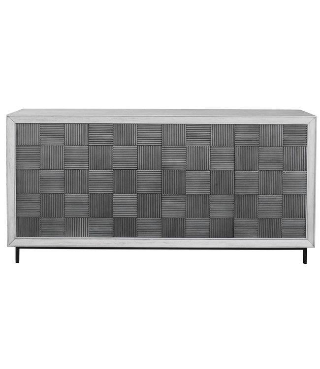 Uttermost Checkerboard 4 Door Cabinet