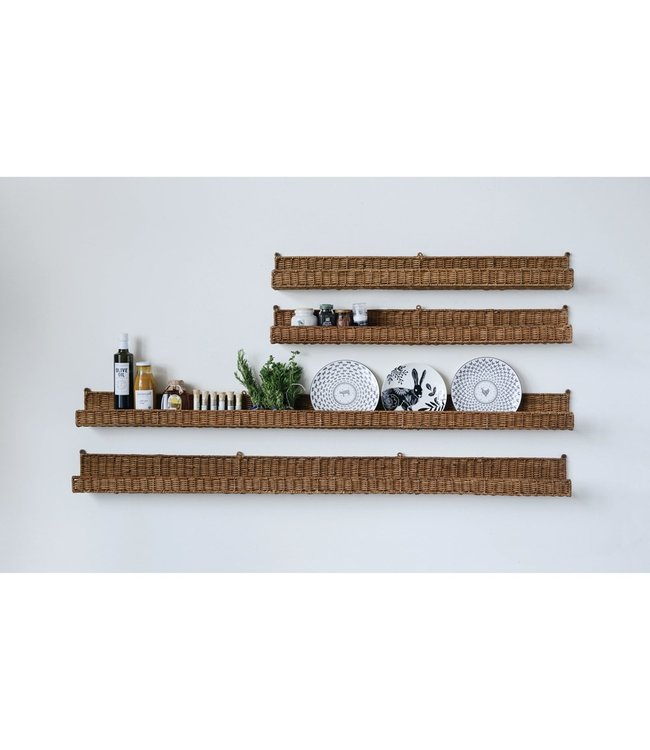 "Creative Co-Op 60""L x 5""W Hand-Woven Rattan Wall Ledge"