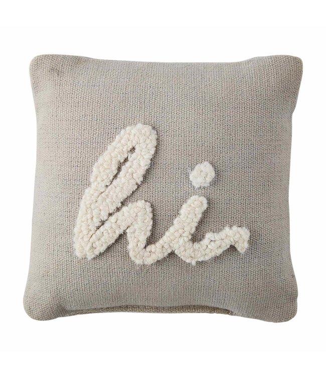 MudPie Hooked Hi Mini Pillow