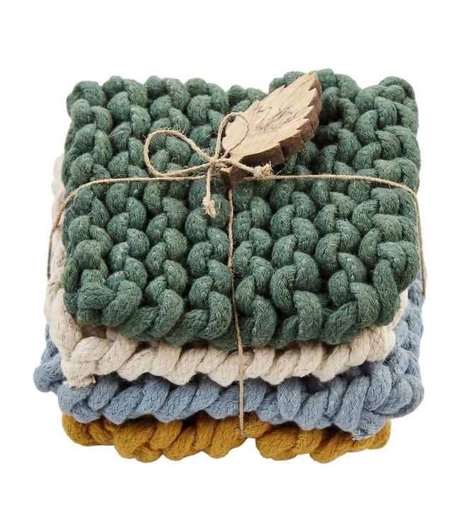 MudPie Crochet Coaster Set