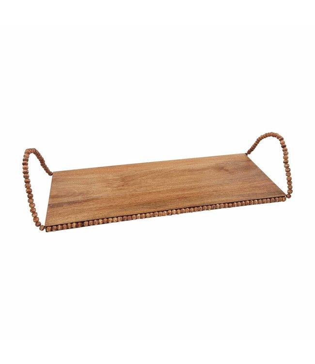 MudPie Large Wood Bead Tray