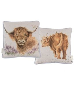 Wrendale Designs Highland Heathers' Highland Cow Decorative Pillow