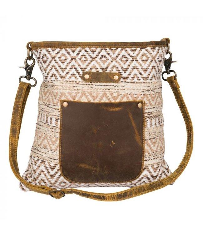 Myra Bag Beige World Shoulder Bag
