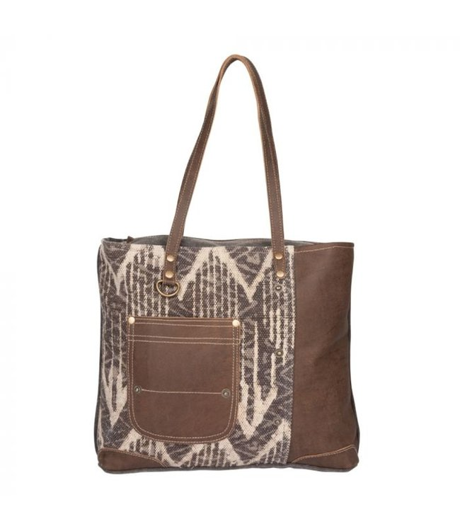 Myra Bag Brown Canvas Tote Bag
