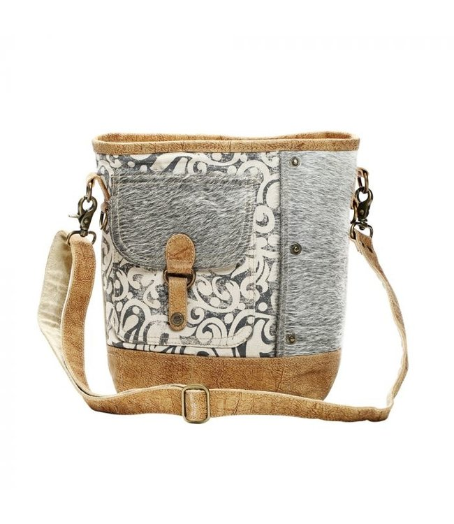 Myra Bag Hairon Flap Pocket Shoulder Bag