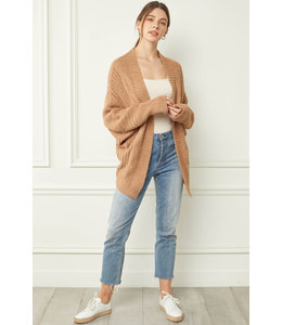 Entro Textured Cozy Cardigan -2 Colors Available