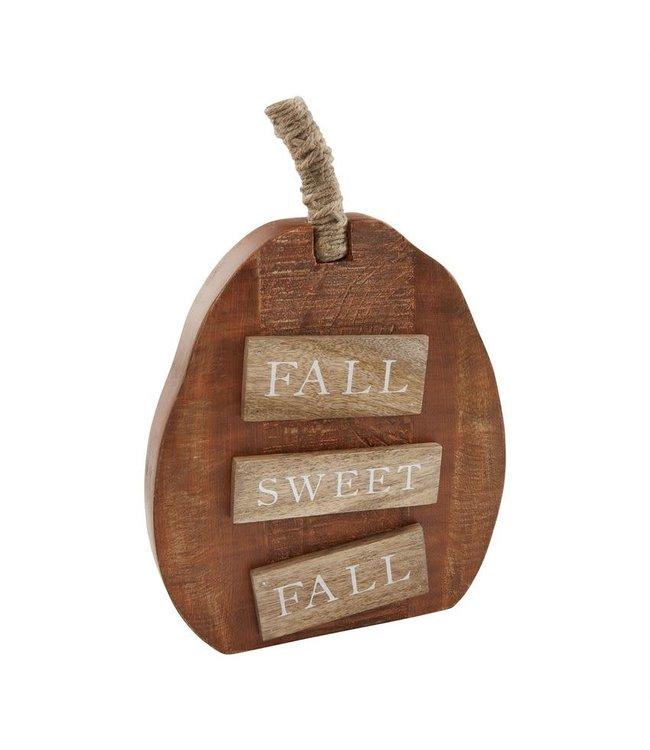 MudPie Fall Sweet Fall Pumpkin Sitter Medium