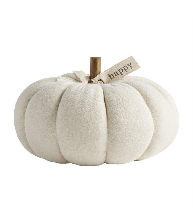 MudPie Happy Cream Pumpkin Sitter Medium
