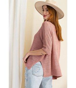 Easel Breezy Fall Knit Sweater