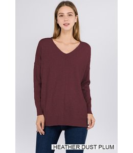 Dreamer By Debut V-Neck Sweater With Front Seam