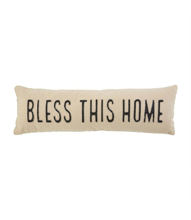 MudPie Bless This Home Throw Pillow