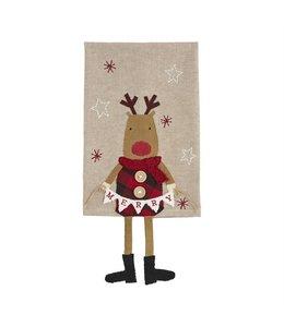 MudPie Reindeer Dangle Leg Dish Towel