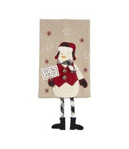 MudPie Snowman Dangle Leg Dish Towel
