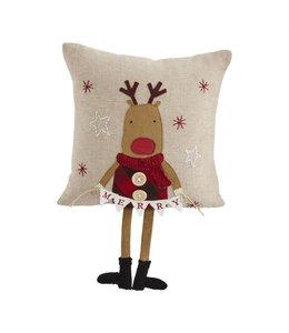 MudPie Reindeer Dangle Leg Pillow