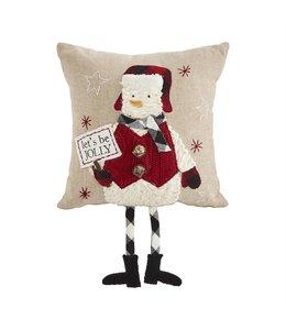 MudPie Snowman Dangle Leg Pillow