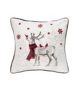 C&F Home Frosty Deer Pillow
